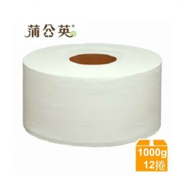 蒲公英大捲筒衛生紙1000g x3捲x4串/箱